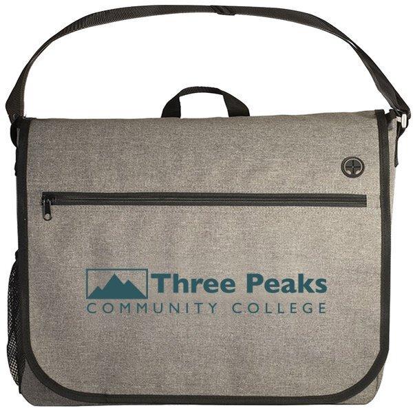 Strand Polyester Messenger Bag w/ Laptop Sleeve