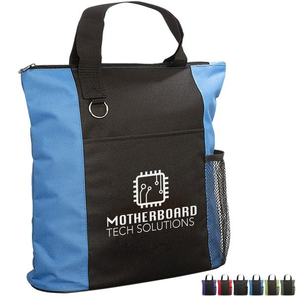 Essential Polyester Trade Show Tote w/ Zipper Closure