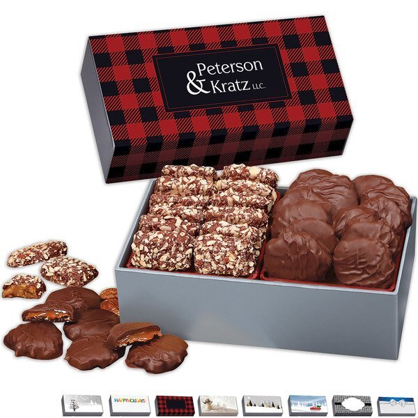 Pecan Turtles & English Butter Toffee in Holiday Gift Box