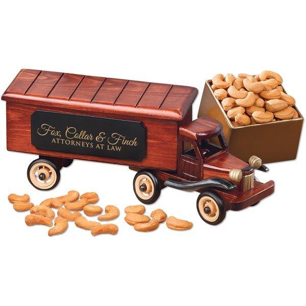 Vintage 1940-Era Tractor Trailer Truck with Extra Fancy Jumbo Cashews