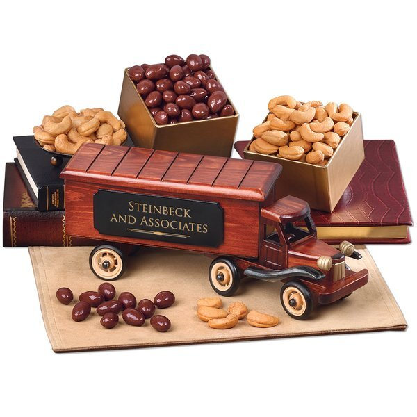 Vintage 1940-Era Tractor Trailer Truck with Chocolate Covered Almonds & Extra Fancy Jumbo Cashews