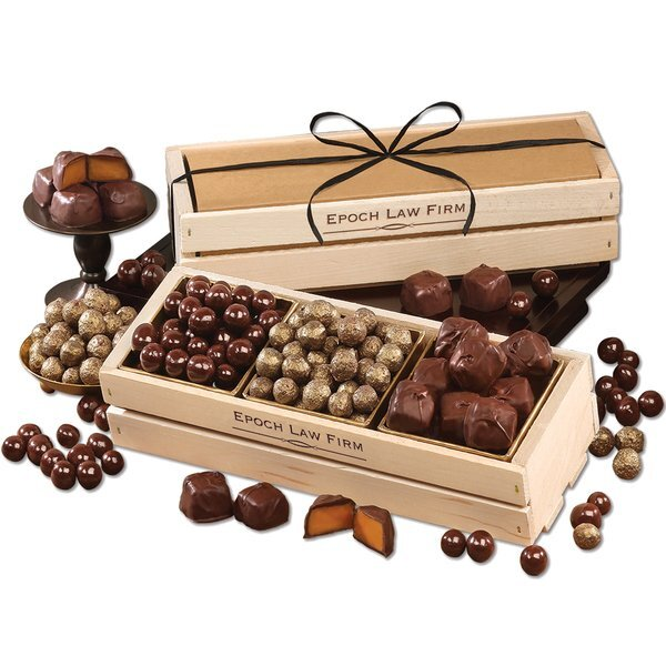 After Hours Favorite Treats in Wooden Crate