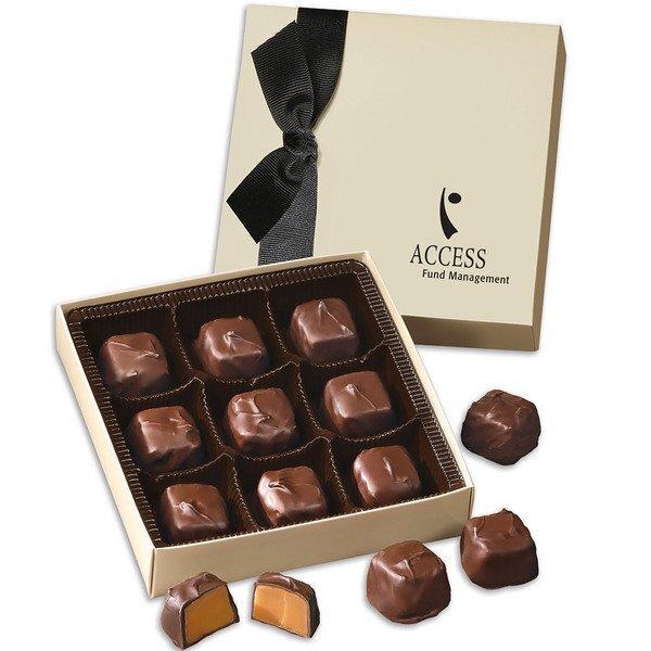 Barrel-Aged Bourbon Caramels Chocolate Elegance Gift Box