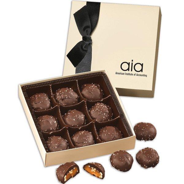 Chocolate Sea Salt Almond Turtles Chocolate Elegance Gift Box