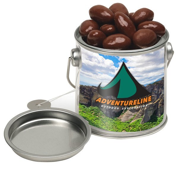 Mini Paint Bucket with Chocolate Covered Almonds