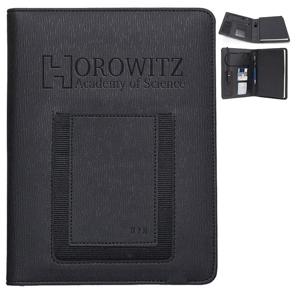 """Roma Wireless Power Charger Refillable Journal, 6"""" x 8"""""""