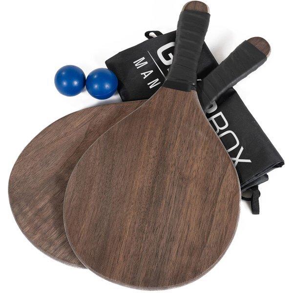 Wooden Paddle Ball Set