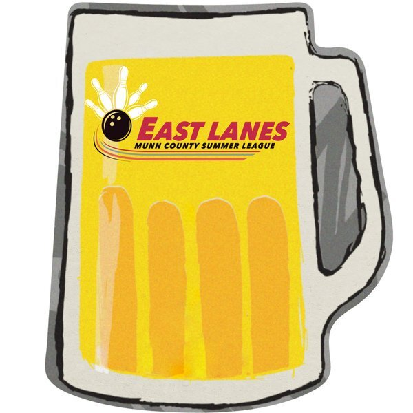 Beer Mug Pulpboard Coaster w/ Full Color Imprint, 80 pt.