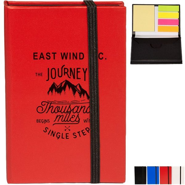 Go-Getter Hard Cover Sticky Notepad/Business Card Case