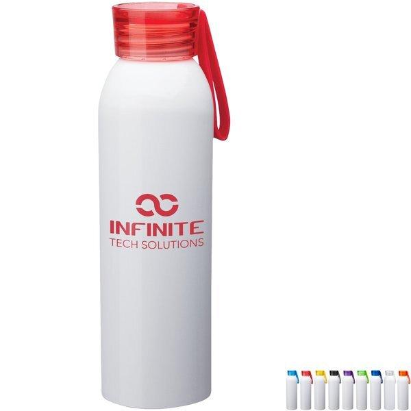 Metis White Body Aluminum Water Bottle, 22oz.