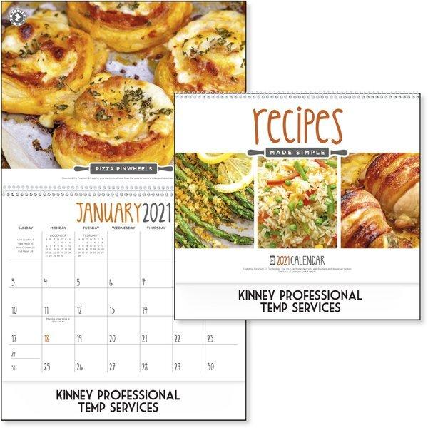 Recipes Made Simple Wall Calendar