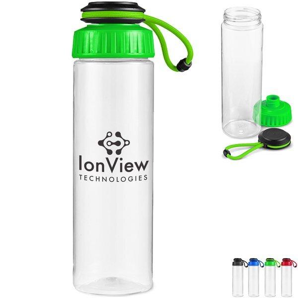 Tubular Tritan™ Water Bottle w/ Carrying Strap, 25oz.