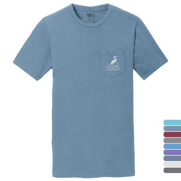 Port & Company® Beach Wash™ Garment-Dyed Unisex Pocket Tee