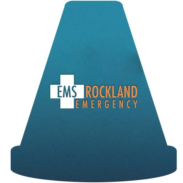 Safety Cone Pulpboard Coaster w/ Full Color Imprint, 80 pt.