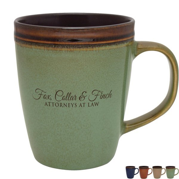 Antigua Earth Tone Ceramic Mug, 14oz.