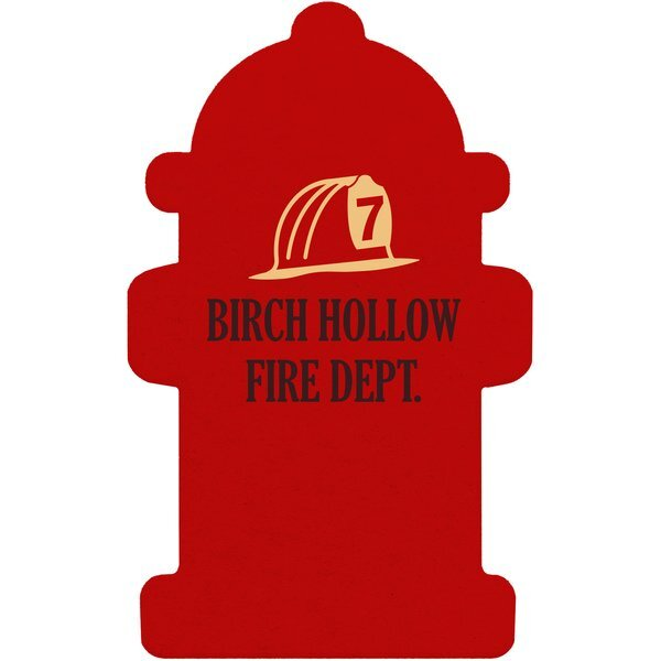 Fire Hydrant Pulpboard Coaster w/ Full Color Imprint, 80 pt.