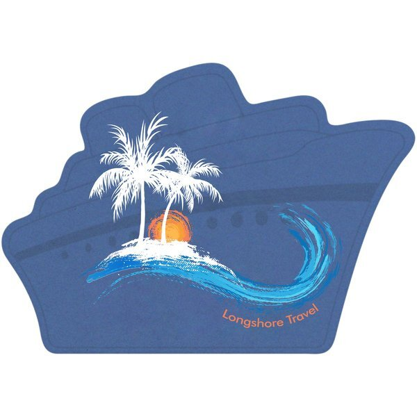 Ship Pulpboard Coaster w/ Full Color Imprint, 80 pt.