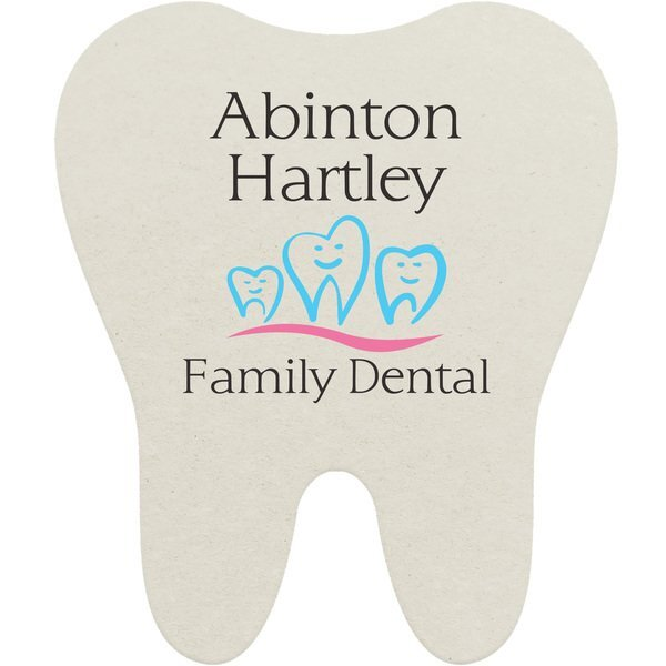 Tooth Pulpboard Coaster w/ Full Color Imprint, 80 pt.