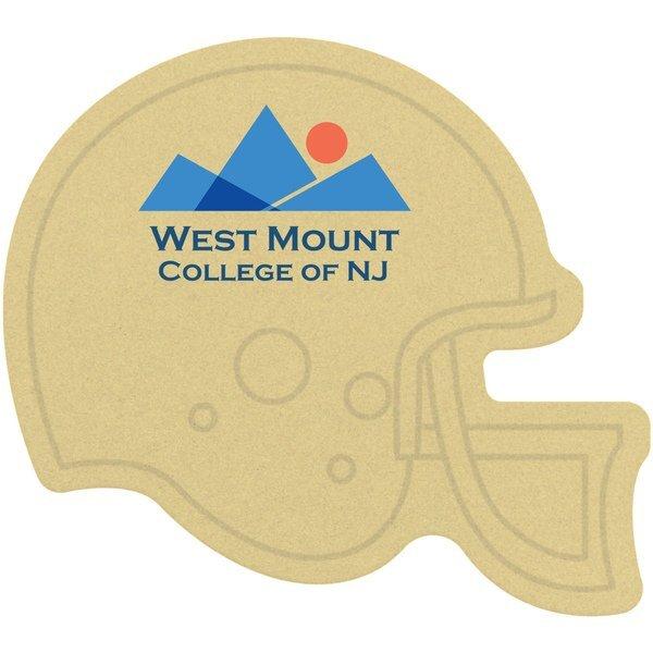 Football Helmet Pulpboard Coaster w/ Full Color Imprint, 80 pt.