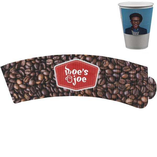 Corrugated Beverage Sleeve w/ Full Color Imprint, 12-24oz.