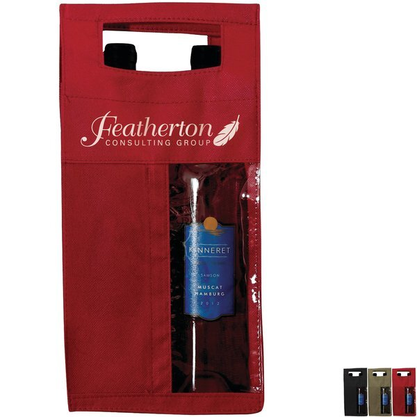 Two Bottle Non Woven Window Wine Tote