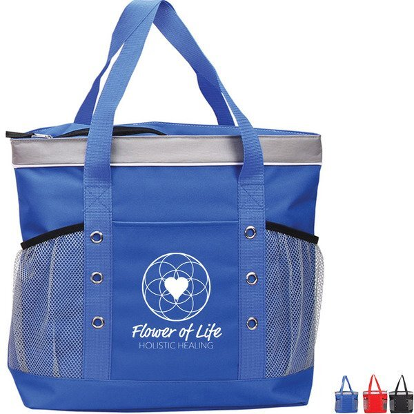 Nautical Polyester Cooler Tote