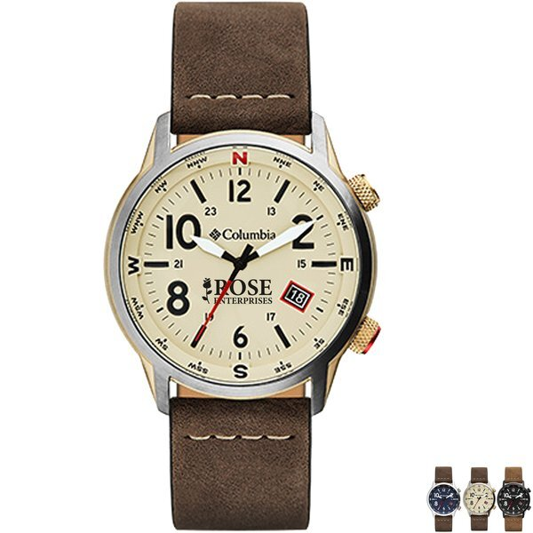 Columbia® Men's Outbacker Watch w/ Leather Strap