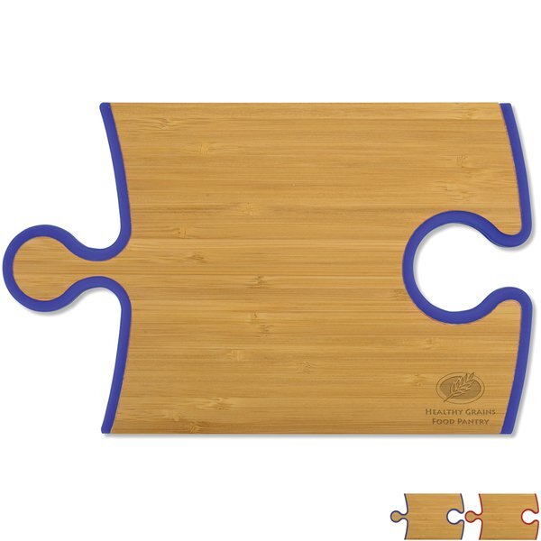 Puzzle Piece Bamboo Wine-N-Cheese Cutting Board