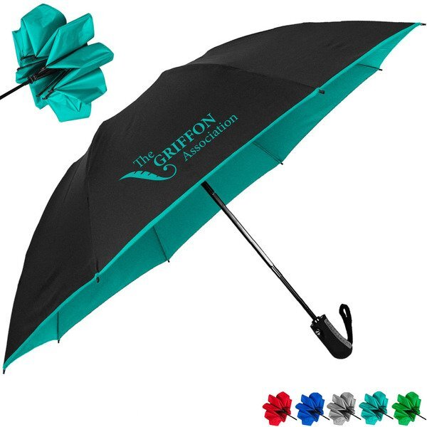 "Color Flip Inverted Folding Umbrella, 46"" Arc"