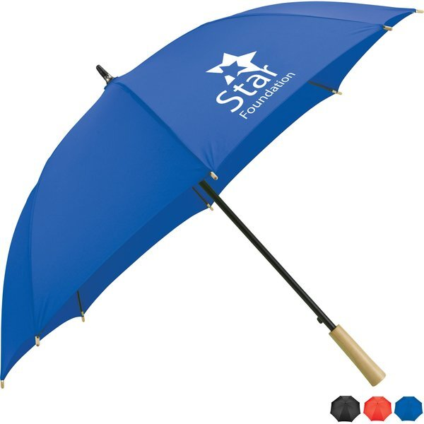 "Recycled PET Auto Open Fashion Umbrella, 48"" Arc"