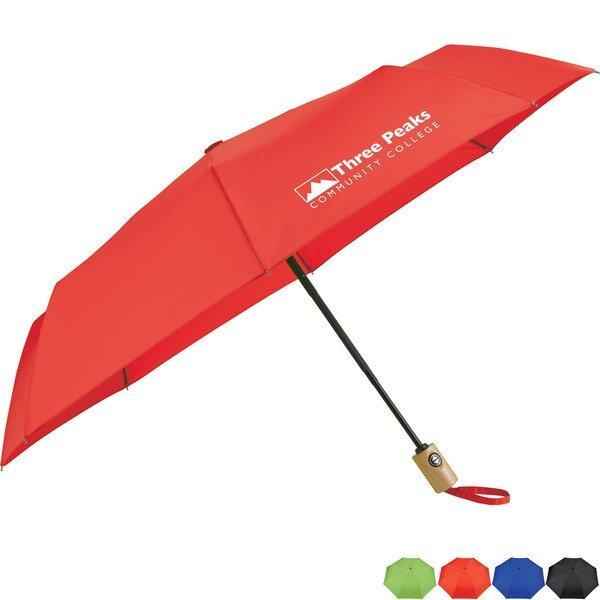 "Recycled PET Auto Open Fashion Umbrella, 42"" Arc"