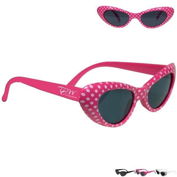 Kid's Polka Dot Cat Eye Sunglasses