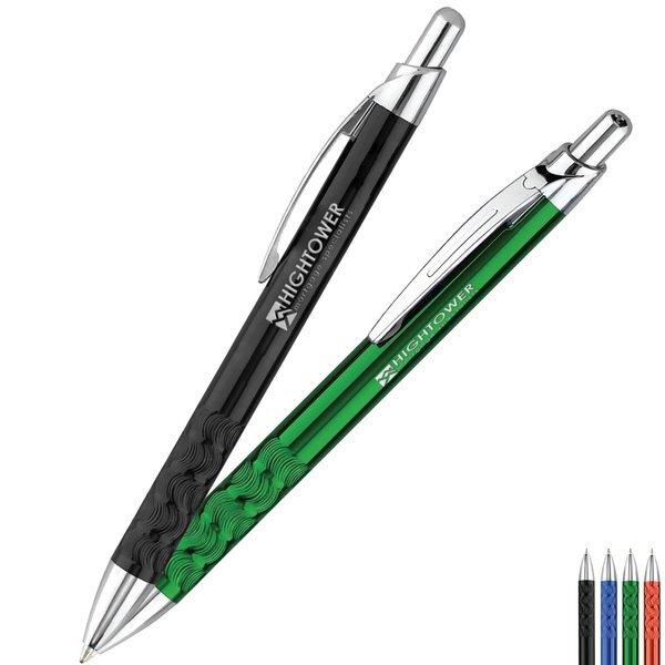Illusion Swirl Metal Retractable Pen