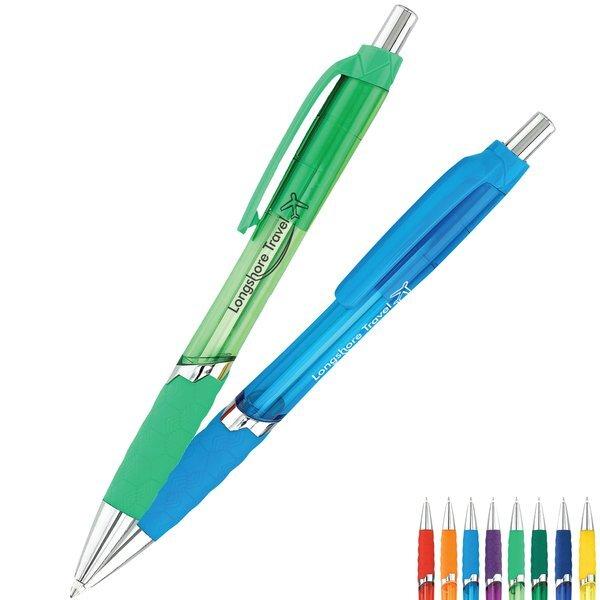 Gem Colorful Translucent Click Pen