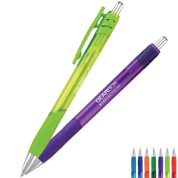 Metro Translucent Rubber Grip Retractable Pen