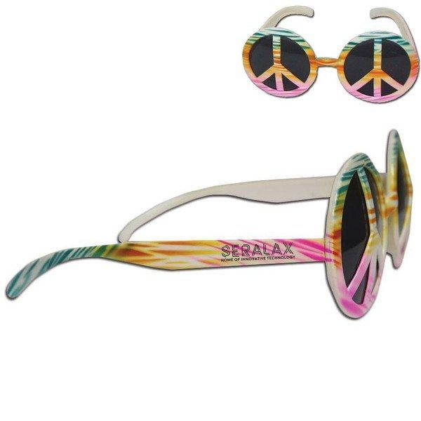 Peace Sign Tie Dye Sunglasses