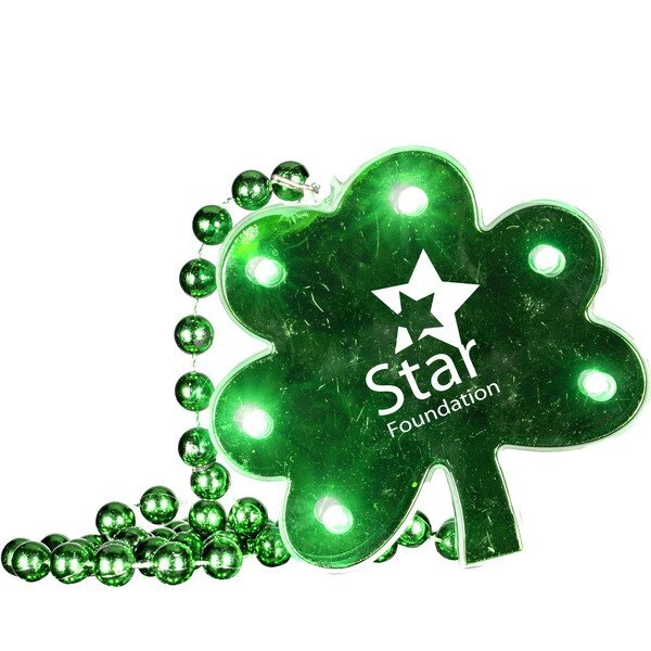 LED Shamrock Beaded Necklace