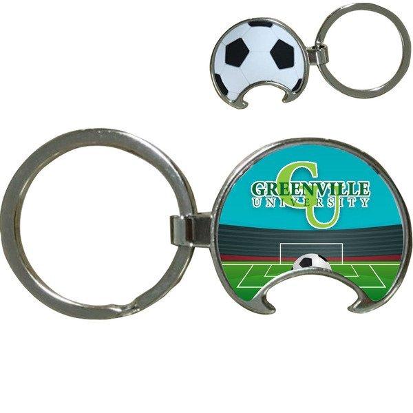 Soccer Ball Bottle Opener Key Tag w/ Full Color Imprint
