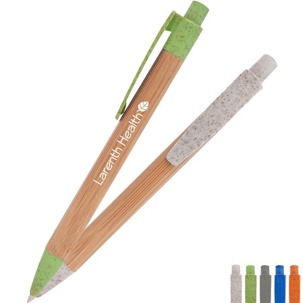 Bamboo Wheat Writer Eco-Friendly Plunger Action Pen