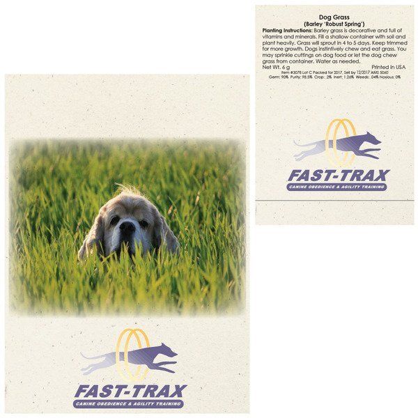 Dog Grass Seed Packet
