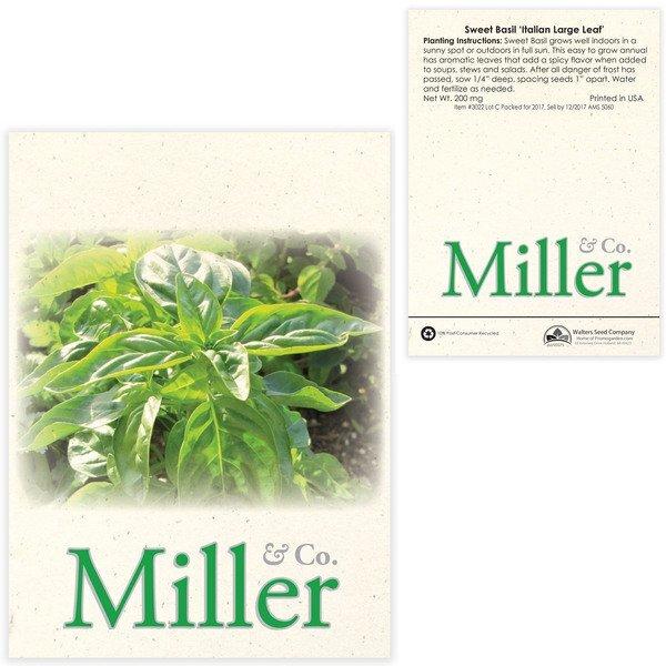Sweet Basil Seed Packet