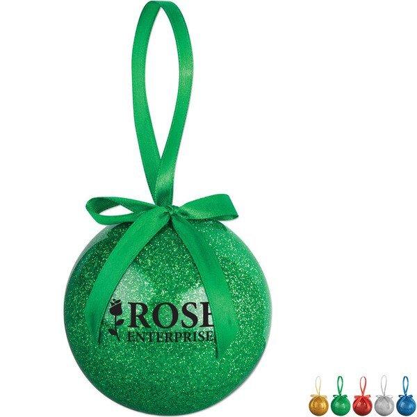 Glitter Round Holiday Ornament