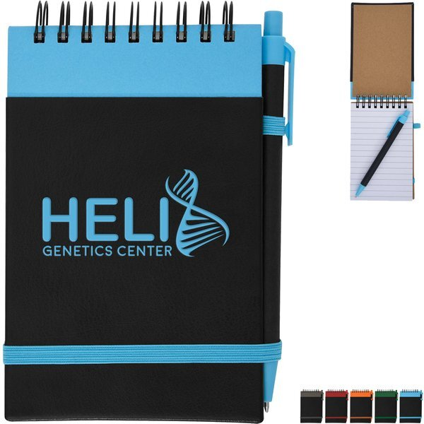 Color Underlay Spiral Jotter w/ Matching Pen Set