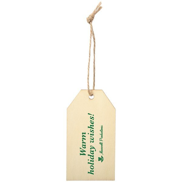 Wood Gift Tag Ornament