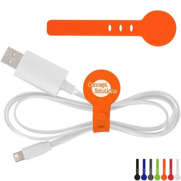 Adjustable Silicone Cable Tie Organizer