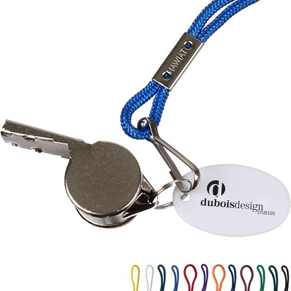 Metal Whistle w/ Lanyard