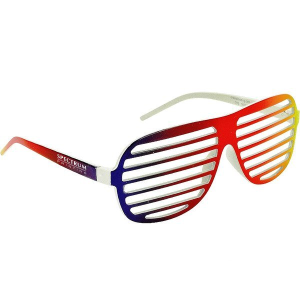 Rainbow Shutter Shade Glasses
