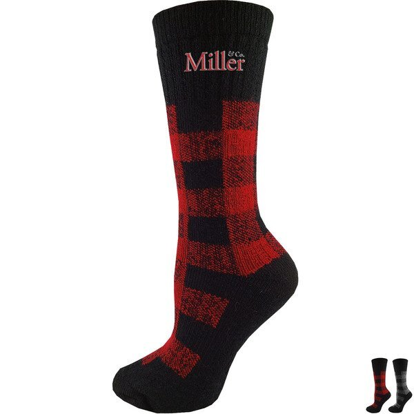 Carolina Ladies' Buffalo Plaid Merino Wool Socks