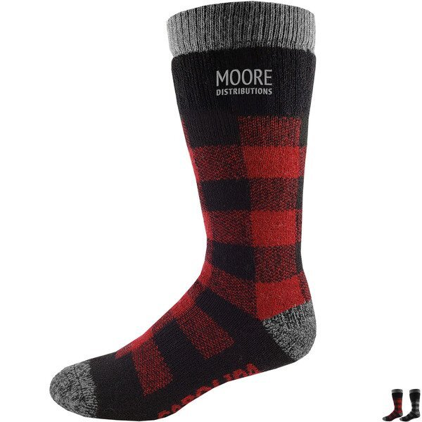 Carolina Men's Buffalo Plaid Merino Wool Socks