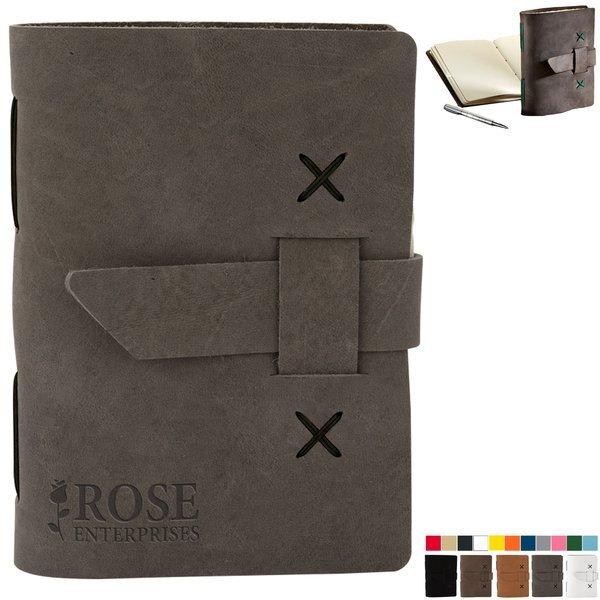 """Journeyman Small Leather Journal, 5-1/4"""" x 6-8/9"""""""